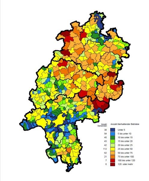 Hessenkarte Statistisches Landesamt 2010