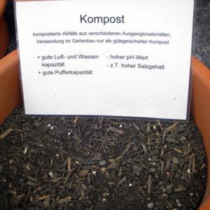 Holzfasern, Kompost und Rindenhumus dienen als Zuschlagstoffe für torffreie Substrate