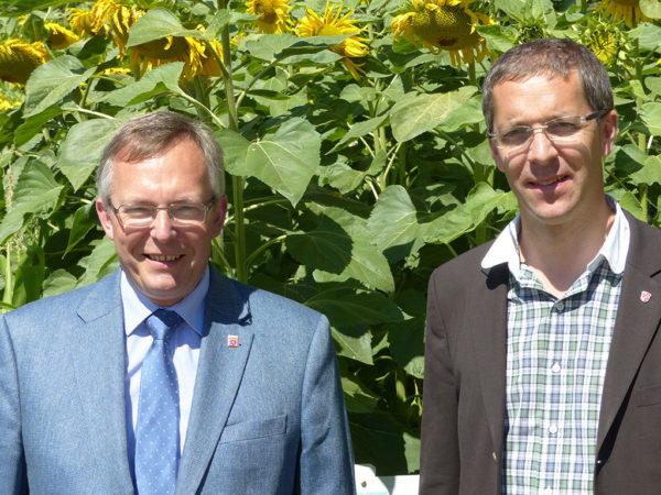 LLH-Direktor Andreas Sandhäger und Landrat Dr. Michael Koch
