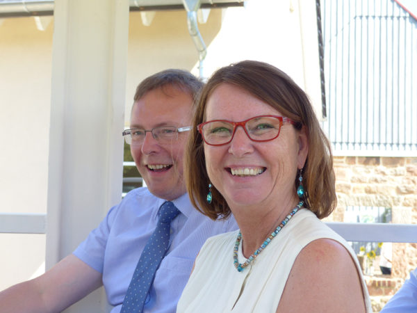 LLH-Direktor Andreas Sandhäger und die hessische Umweltministerin Priska Hinz