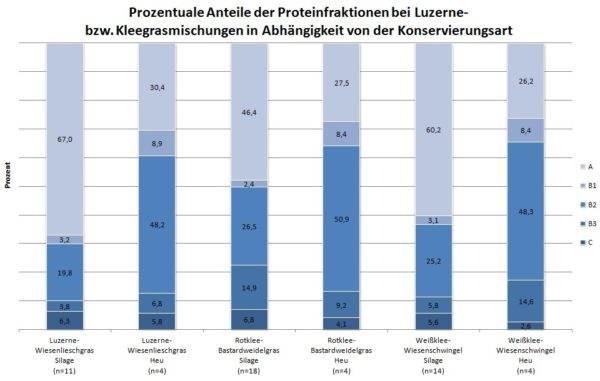 Grafik Proteinfraktionen