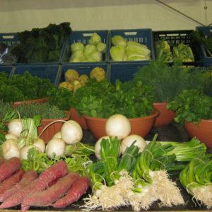 Frisches, regionales Gemüse kommt beim Verbracher gut an.