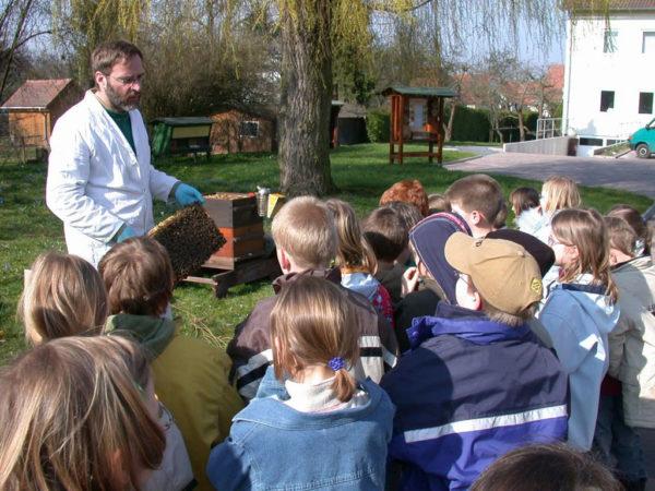 Schulklasse im Bieneninstitut Kirchhain