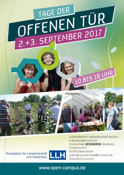 Flyer Tage der offenen Tür Geisenheim September 2017