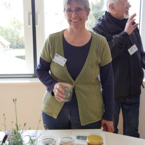 Karin Petzold-Treibert stand für Fragen rund um Honigsorten zur Verfügung