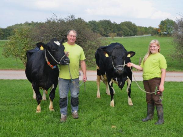 Hunderttausend-Liter-Kühe Liberti und Karoline