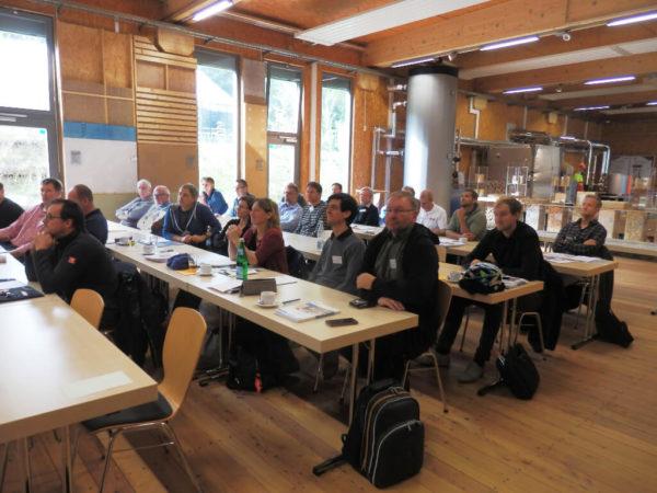 Hochmotivierte Teilnehmer der Weiterbildung für Berufsschullehrer im September 2017