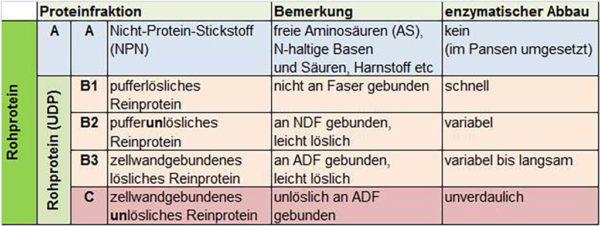 Rohproteinfraktionen