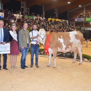 Würdigung der Champion-Kuh Prina vom Betrieb Schäfer, Airlenbach